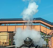 Steam Engine Starting off Somerset by Nick Jenkins