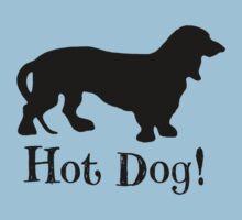 Hot Dog! Dachshund Wiener Dog Silhouette by hiway9