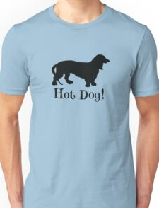 Hot Dog! Dachshund Wiener Dog Silhouette Unisex T-Shirt