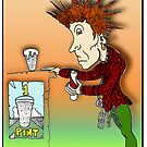 Johnny Rotten Cartoon [John Lydon] by Grant Wilson