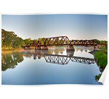 Rusty Railroad Bridge Poster
