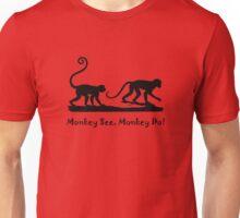 Monkey See Monkey Do Monkeys Silhouette  Unisex T-Shirt