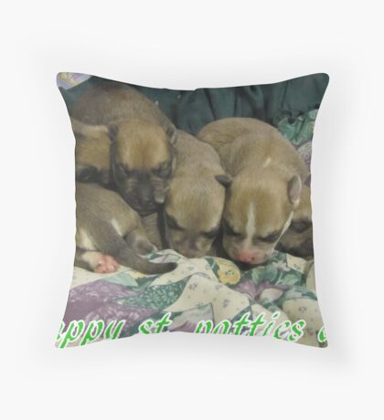 jerzy's pups Throw Pillow