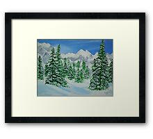 Winter on The Mountains Framed Print
