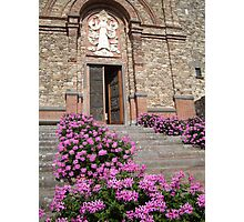 Church Flowers in Tuscany Photographic Print