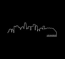 Los Angeles cityscape (white line) by peculiardesign