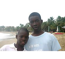Two Boys From Haiti Photographic Print