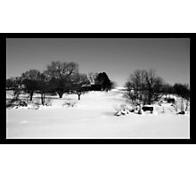 Winter in the Countryside Photographic Print
