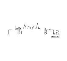 Las Vegas cityscape (black line) by peculiardesign