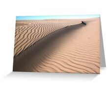 Oceano Dunes Snake Greeting Card