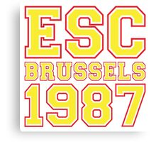 ESC Brussels 1987 [Eurovision] Canvas Print