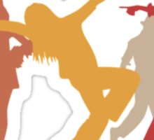 Colorful Jazz Dancers Sticker