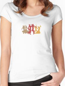 Colorful Flamenco Dancers Women's Fitted Scoop T-Shirt
