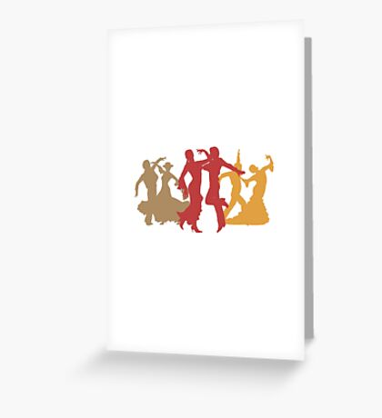 Colorful Flamenco Dancers Greeting Card
