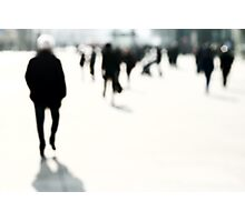 Blurred People Photographic Print