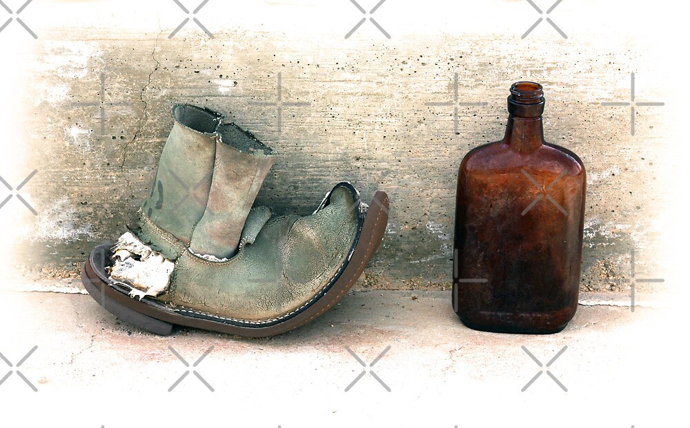 The Old Boot And An Empty Bottle by CarolM