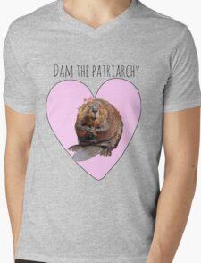 Dam the Patriarchy Mens V-Neck T-Shirt
