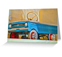 Child's Toy Blue Car Greeting Card