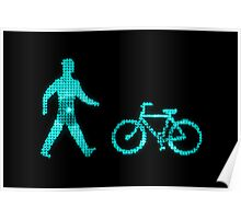 green bike and man Poster