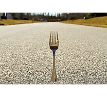 THE FORK IN THE ROAD Photographic Print