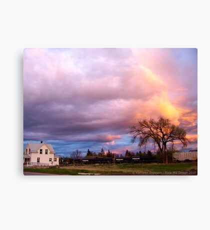 Kalispell Sunset - South Canvas Print