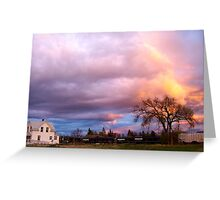 Kalispell Sunset - South Greeting Card