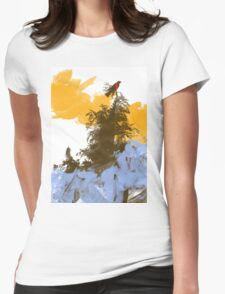 Morning Mist Womens Fitted T-Shirt