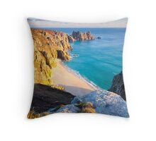 Treen Cliffs Throw Pillow