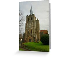 St Mary The Virgin, Minster In Thanet Greeting Card