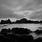 Corbiere Lighthouse I (B&W) by ThePingedHobbit