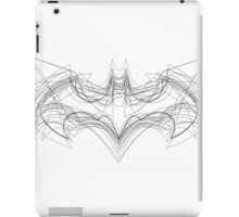 Batman Logo Evolution Print (Mono) iPad Case/Skin