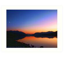Lake MacDonald Sunset Art Print