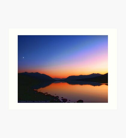 Lake MacDonald Sunset Art Print