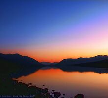 Lake MacDonald Sunset by rocamiadesign