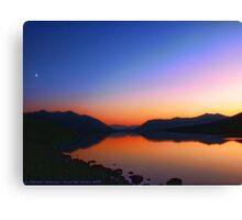 Lake MacDonald Sunset Canvas Print