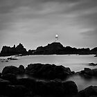 Corbiere Lighthouse II (B&W) by ThePingedHobbit