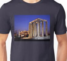 The Temple of Olympian Zeus & the Acropolis Unisex T-Shirt