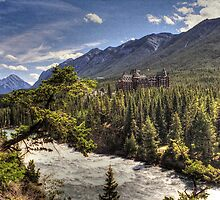 Banff, a river runs through it by Glenn Gilbert