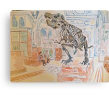 T rex at Manchester Museum  Canvas Print