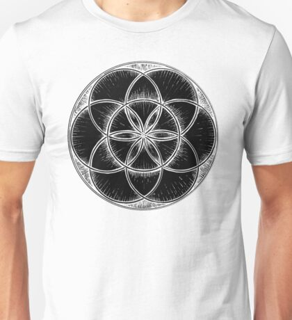 Sacred Geometry: Seed of Life - Sketchy Unisex T-Shirt
