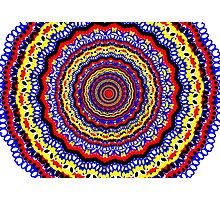 Colorful Bright Bohemian Circle Pattern Photographic Print
