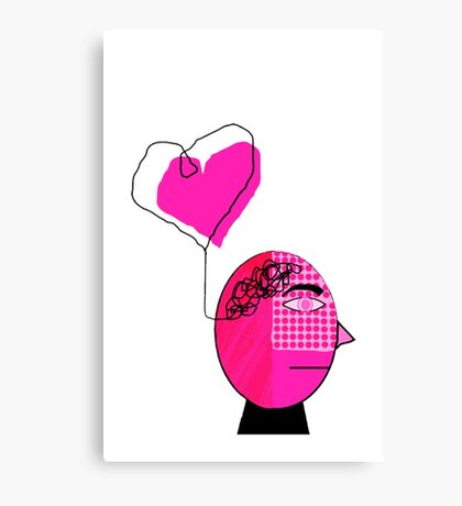 Pink in the face Canvas Print