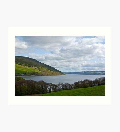 Overlooking Loch Ness Art Print
