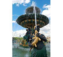 Place de la Concorde Fountain Photographic Print
