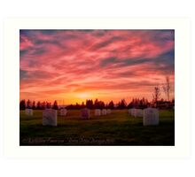 Solemn Sundown Art Print