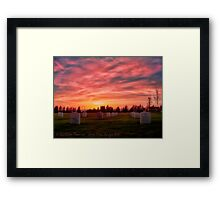 Solemn Sundown Framed Print