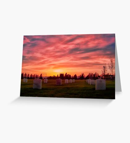 Solemn Sundown Greeting Card
