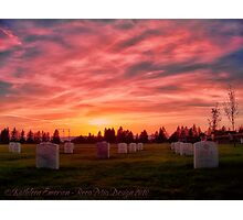 Solemn Sundown Photographic Print