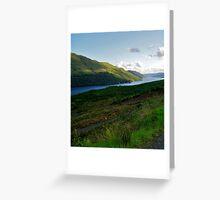 View of Loch Long in Arrochar, Scotland Greeting Card