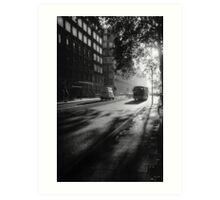 Early Morning Bus PS5 BW 19971122 0002  Art Print